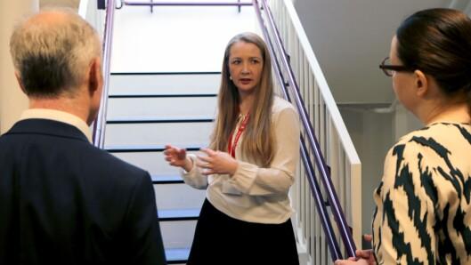 Leder i Haugenstien barnehage, Øydis Hoff, var i dag vertskap da den norske og svenske kunnskapsministeren kom på besøk.