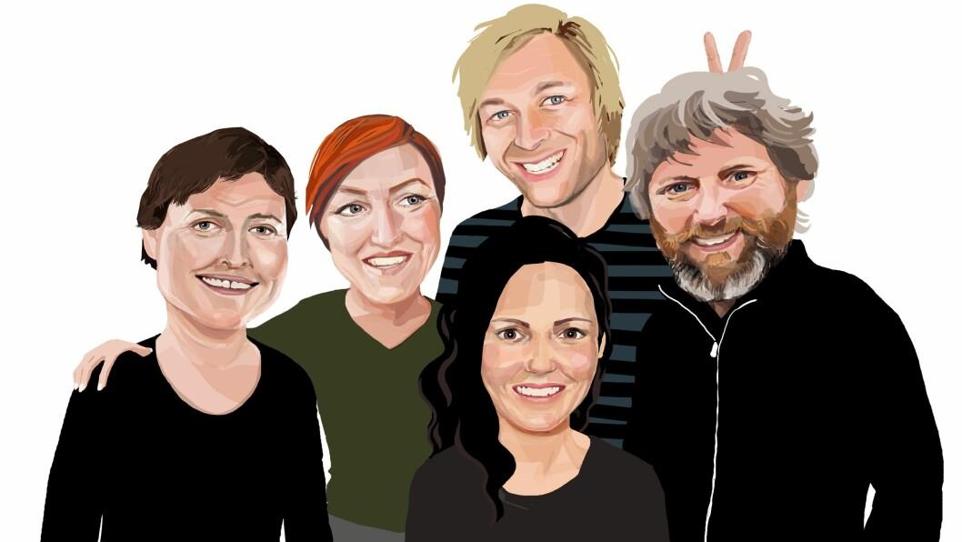 Juryen har kommet frem til følgende fem finalister som nå kjemper om å bli «Årets barnehageinspirator 2019»: Anna Rigmor Moxnes ved USN, Elisabeth Walsøe Lehn ved DMMH, Steffen Tangen ved HiØ, Helene Torsteinson ved HVL og Erik René Larssen Fagerheim ved UiS.