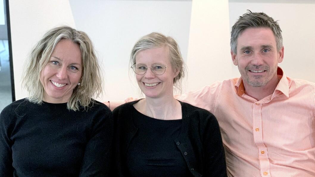 Disse er med i den første utgaven av FUS poden. Fra venstre Hege Cecilie Eikseth, Hedvig Montgomery og Marius Holm Krog-Johnsen.