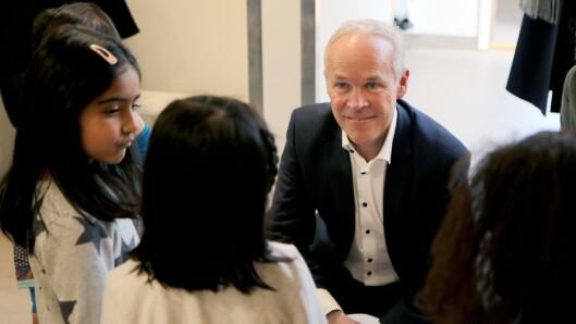 Stiller til debatt: Kunnskapsminister Jan Tore Sanner (H).
