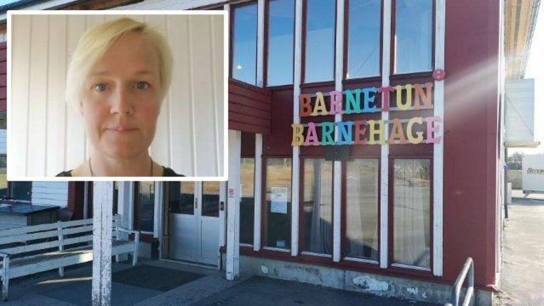 Linn Almendingen er styrer i Barnetun barnehage i Brønnøy.