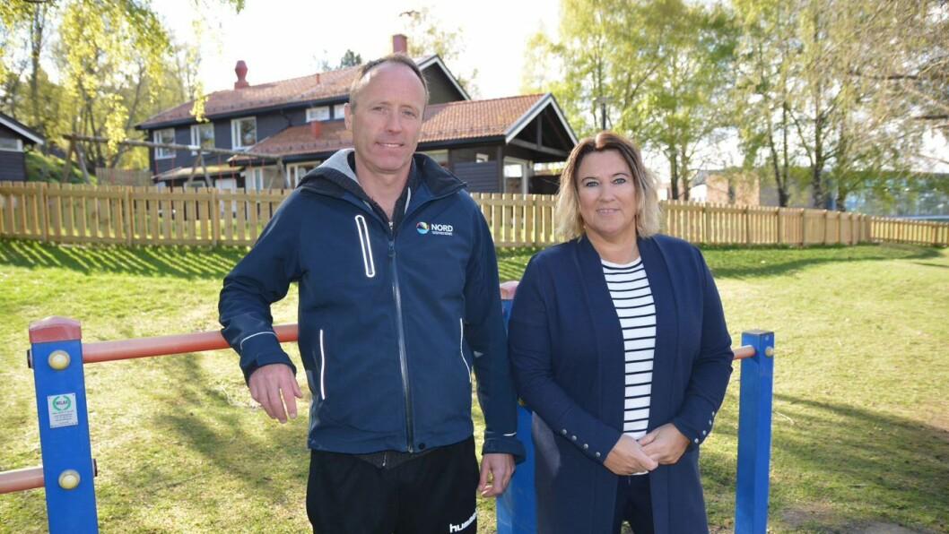 Professor Pål Lagestad og stipendiat Karin Kippe ved Nord universitet forsker på barns fysiske aktivitet i barnehagen.