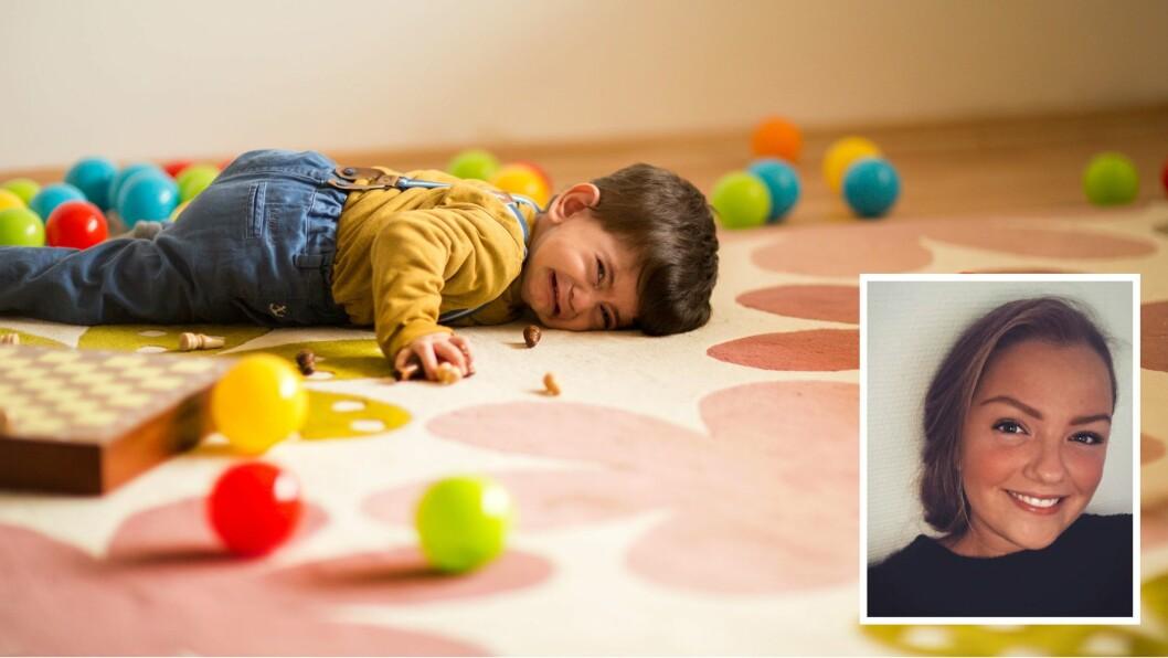 """–  Et barn kommer bort til meg med triste øyne og spør: """"ER JEG SNILL?"""", skriver kronikkforfatteren, Eli Tufteland."""