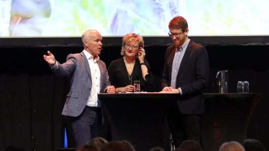 Kunnskapsminister Jan Tore Sanner og Martin Henriksen møttes til debatt ledet av Trude Teige.