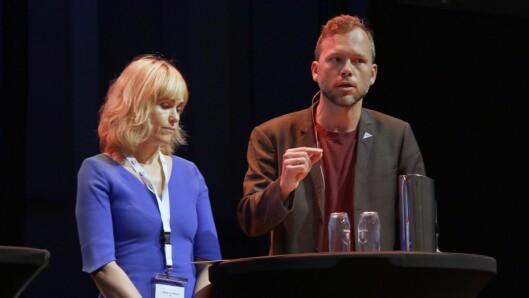 Anne Lindboe (PBL) og Audun Lysbakken (SV) var enige om at det trenges et nytt finansieringssystem, men ikke enige om det skulle være lov å ta ut utbytte..