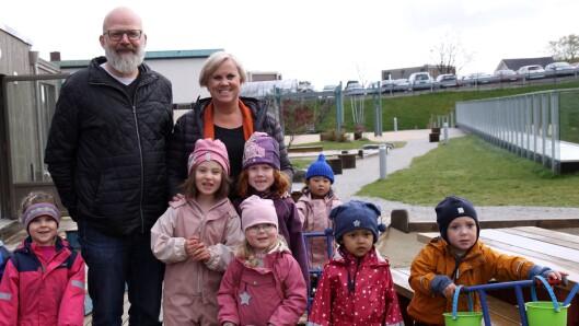 Medeier av barnehagen, Ketil Dybvig og daglig leder Jorunn N. Bøe.