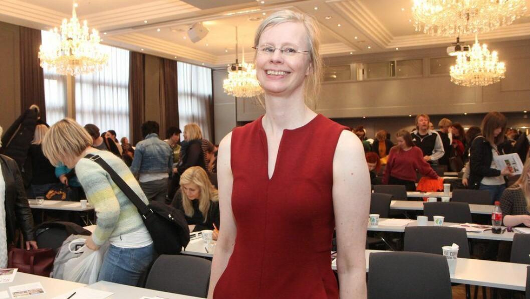 Psykolog og familieterapeut Hedvig Montgomery på barnehagekonferansen