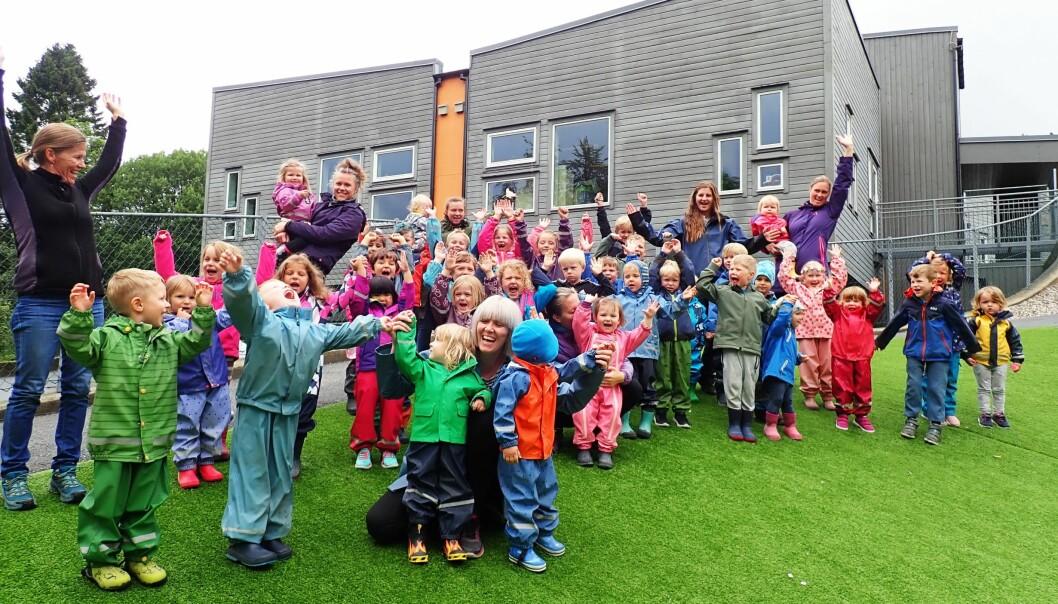 I Kidsa Øvsttun jubler små og store for å ha blitt nominert til Årets Barnehage 2019.