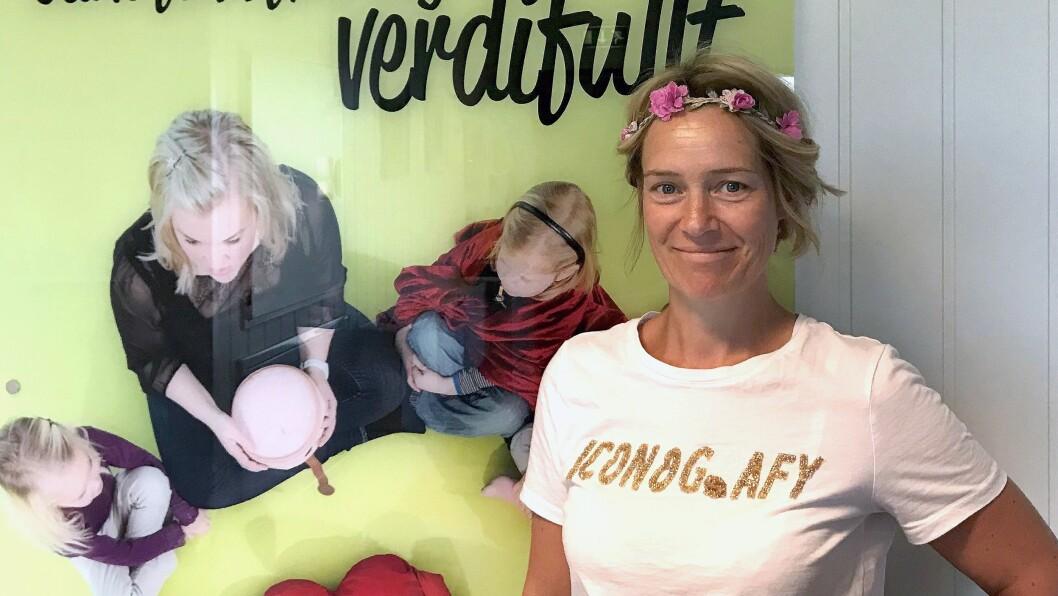 Styrer Trude S. Nordgaard i Læringsverkstedet Humlehaugen barnehage i Trondheim reagerer på at kommunen nå har innført inntaksstopp i sine barnehager.
