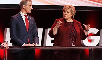 Solberg advarer Støre
