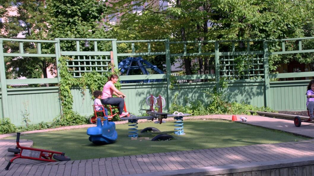 Grønland Torg barnehage er en av fire barnehager i Bydel Gamle Oslo som foreløpig er med i bydelens satsing på Oslohjelpa.
