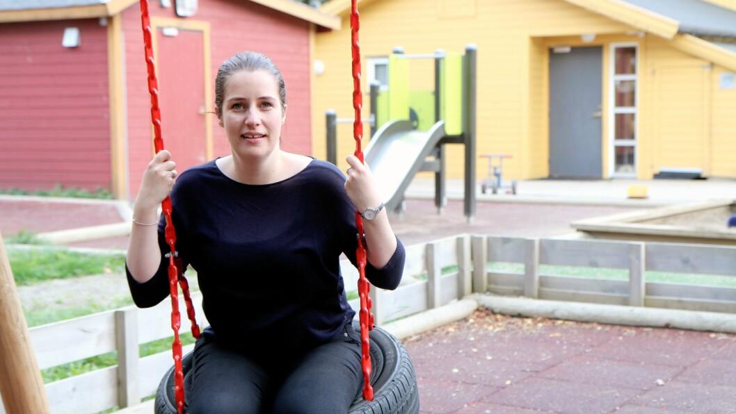 Styrer Mette Pedersen Seljenes i Læringsverkstedet Knerten barnehage i Bodø går nye veier for å få flere foreldre til å stille på foreldremøte.
