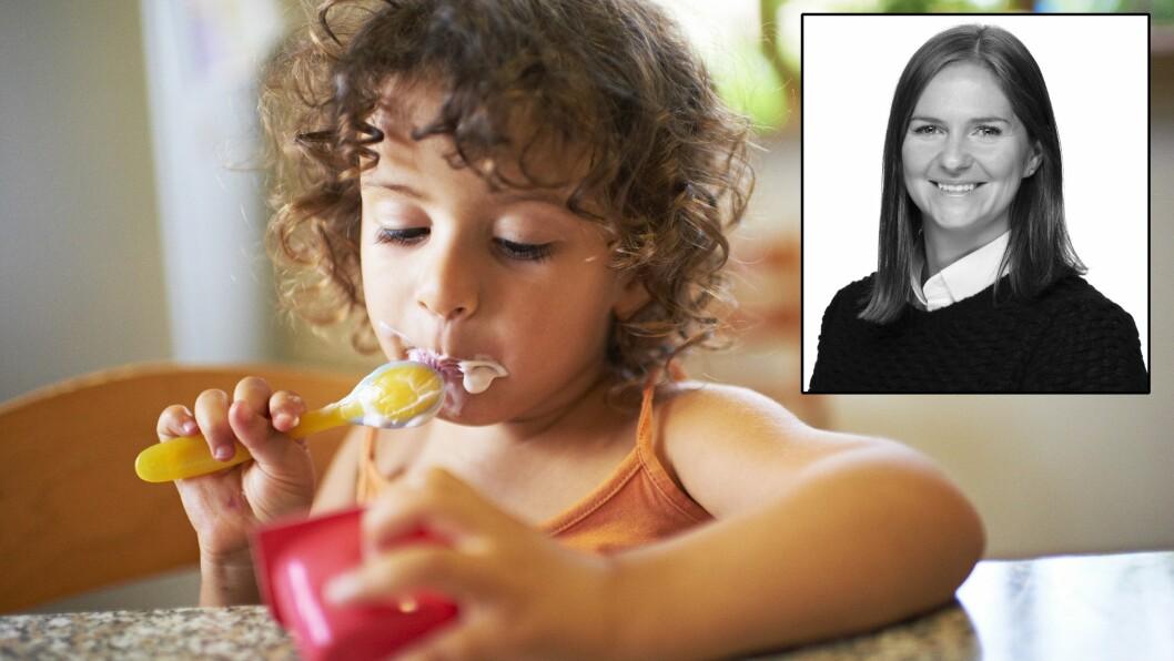 Thea Myklebust-Hansen mener foreldre med god samvittighet kan sende med barna yoghurt i barnehagen.