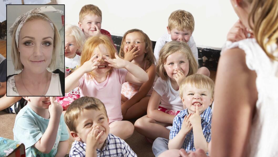 Maylinn Pedersen Raen, er mamma og barnehagelærer. Her tar hun et oppgjør med blant annet bemanningsnormen.
