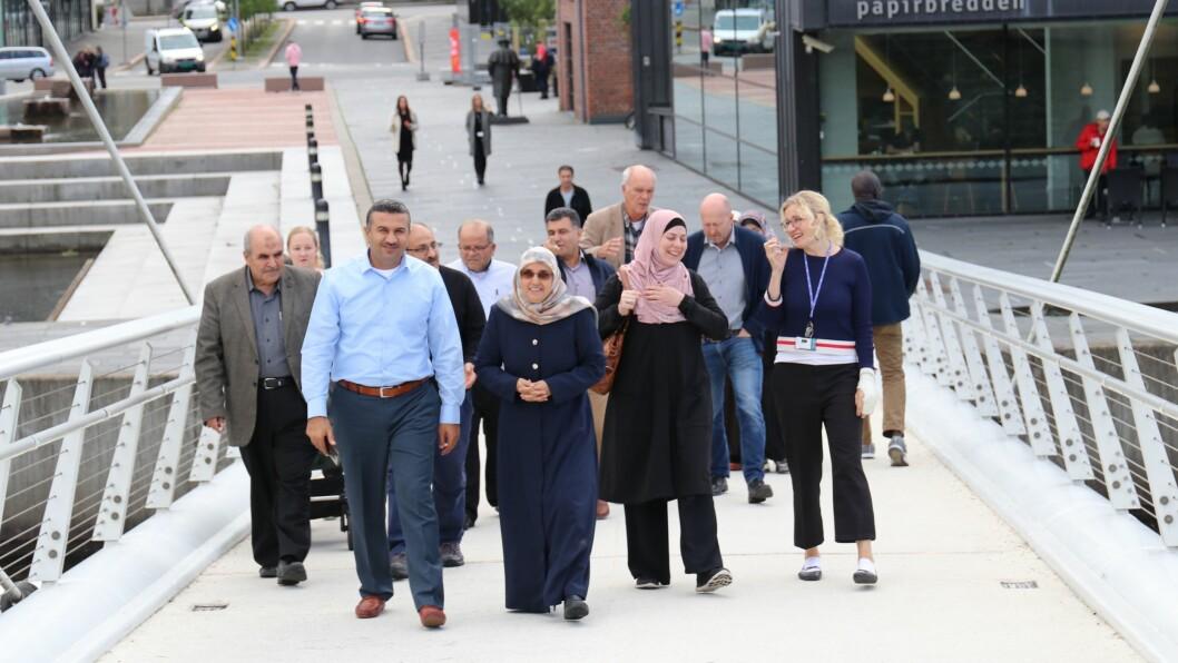 I september var en delegasjon fra fra samarbeidsuniversitetene i Hebron og Gaza på besøk hos USN.