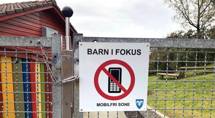 I denne kommunen er barnehagene mobilfri sone