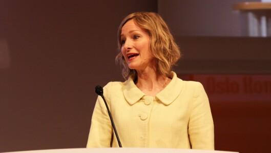 Byråd for oppvekst og kunnskap i Oslo, Inga Marte Thorkildsen. Her på scenen under konferansen Nordiske Impulser.