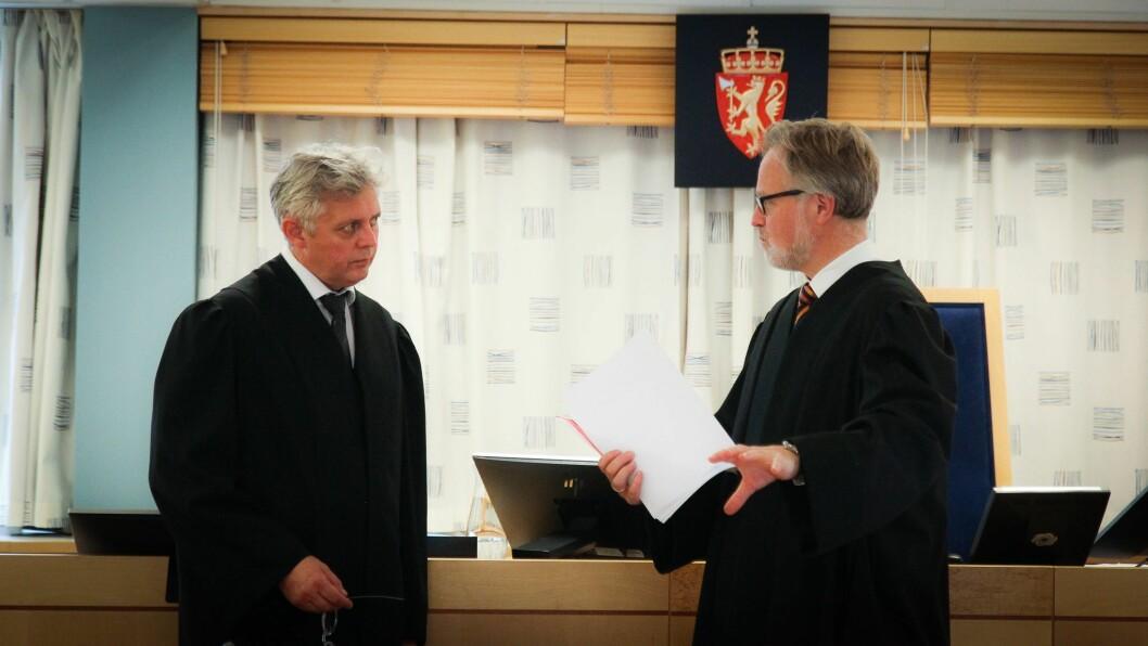 Advokatene Hans-Are Nyheim og Alex Borch