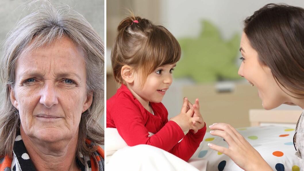 – Anerkjennelse, gode blikk, varme hender, veiledning og kjærlig støtte når det går galt, gir helt klart muligheter for at hjernebaner blir reparert, og nye baner kan skapes i følge nevrovitenskapen, skriver Ingrid Lund.