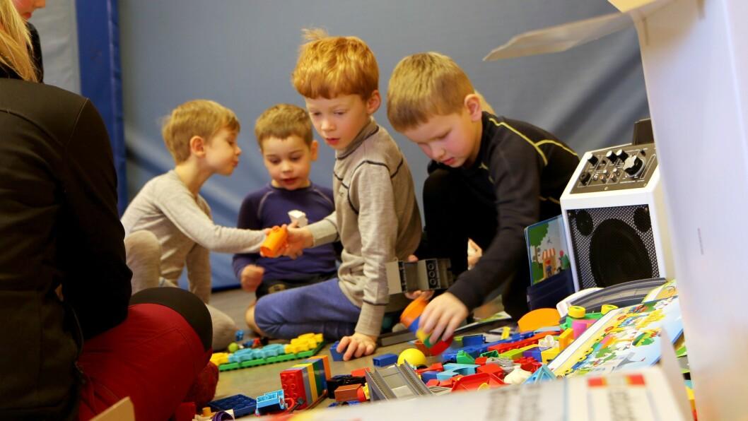 Skolestarterne i Norlandia Bjørneborgen barnehage i kast med oppdrag månerakett. Nå har disse barna begynt på skolen, men First Lego League Jr. Discovery fortsetter i barnehagen.