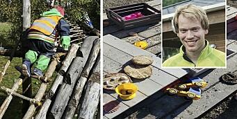 Forsker på det fysiske miljøets betydning: – Mangfold av materialer bidrar til lek