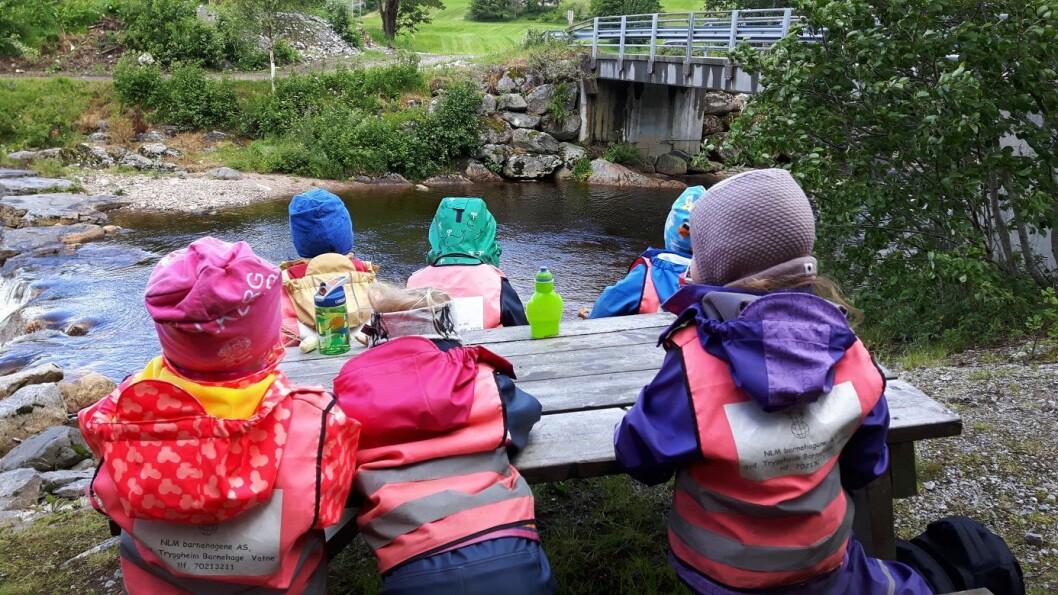 Utsyn barnehage ligger på Finnøy og har i alt 44 barn. Nå frykter daglig leder i NLM-barnehagene, Harald Berge Breistein, for at de neste årene blir tøffe for de kristne barnehagene i selskapet.