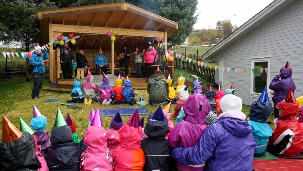Mange av NLM-barnehagene har lang historie. Her feirer Tryggheim barnehage i Ulsteinvik 40-årsjubileum.