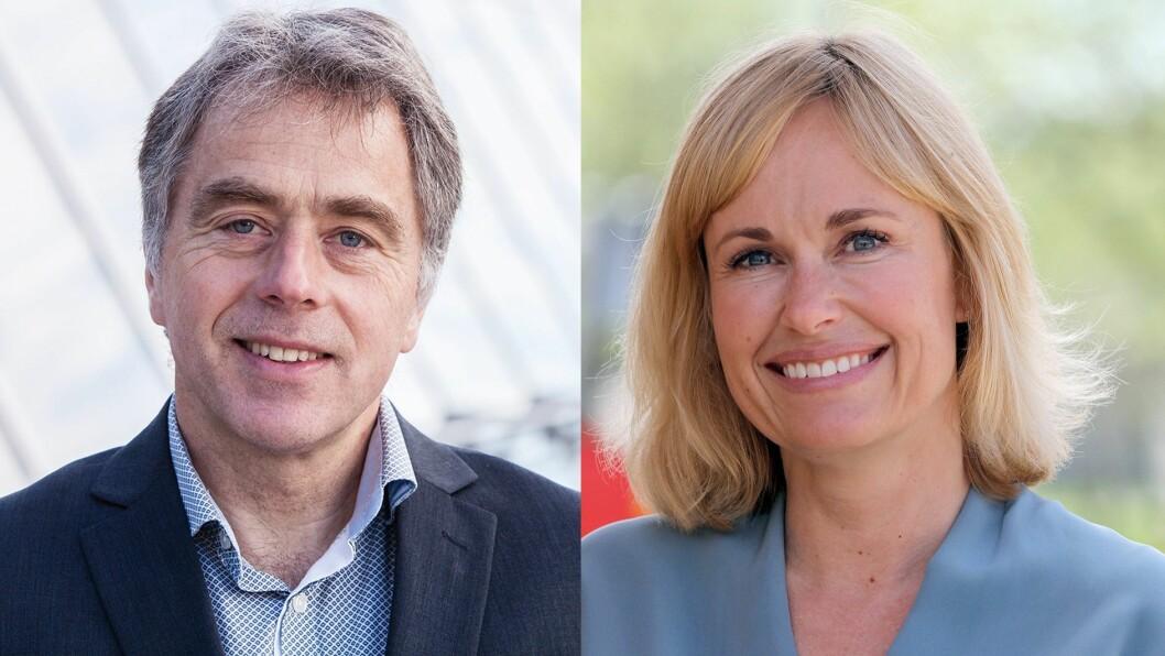 Felles mål: Direktør for interressepolitikk i KS, Helge Eide, og administrerende direktør Anne Lindboe i PBL.