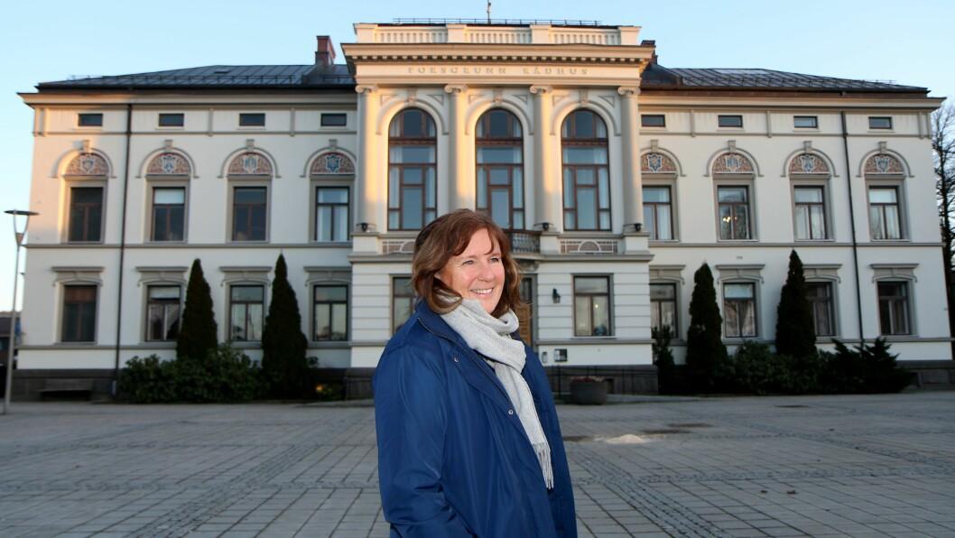 MÅ TENKE FRAMOVER: Vigdis Otterholm jobber i oppvekstavdelingen i Porsgrunn kommune.