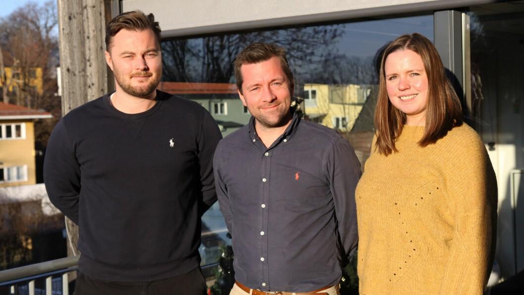 Nærværsarbeidet ga resultater. Fra venstre: Andreas Lund Moseid, områdestyrer i Ullevål/Sogn barnehageområde, styrer Ronny Fersnes i Tåsen barnehage og pedagogisk leder Marthe Dahle i Tåsen barnehage.