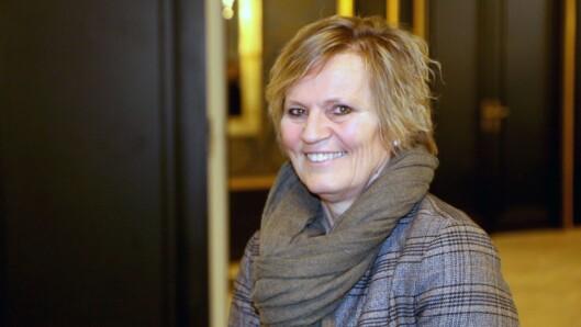 Kristin Voldsnes fra Norlandia Barnehagene var blant tilhørerne under det politiske seminaret i regi av PBL i dag.