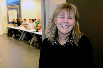 Prosjektleder for Barnas verneombud, Kari Vold Jensen. Bildet er tatt under den første samlingen for barnehageansatte i Bodø i fjor høst.