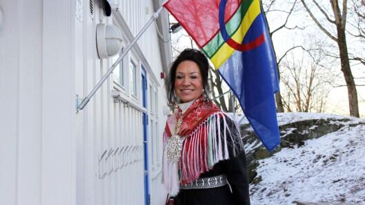 Leder Màre Helander i Samisk barnehage i Oslo forteller at de vil fortsette feiringen utover dagen.
