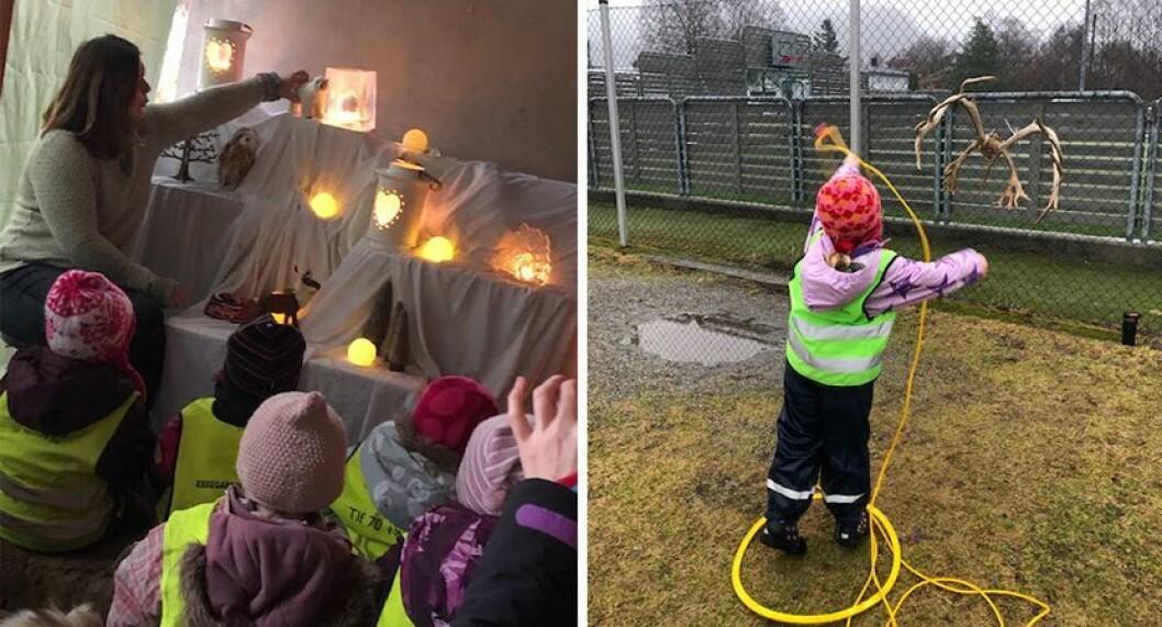 Samenes nasjonaldag ble blant annet feiret i Ebbegarden barnehage.