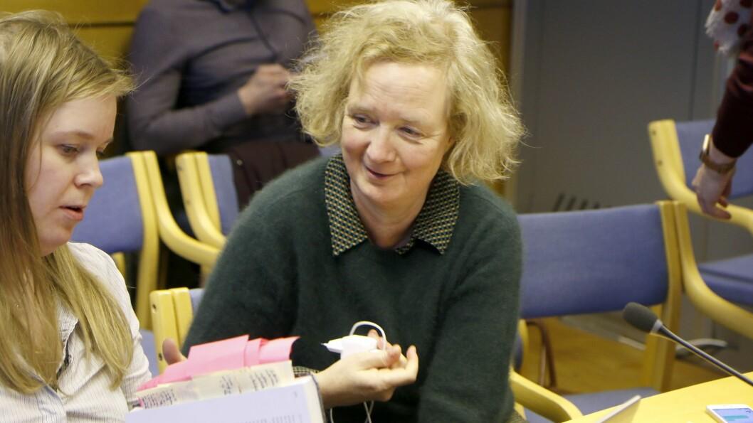 Camilla Trud Nereid er oppvekst- og utdanningsdirektør i Trondheim kommune. Her er hun på plass på tilhørerbenken i Sør-Trøndelag tingrett da saken ble behandlet i januar.
