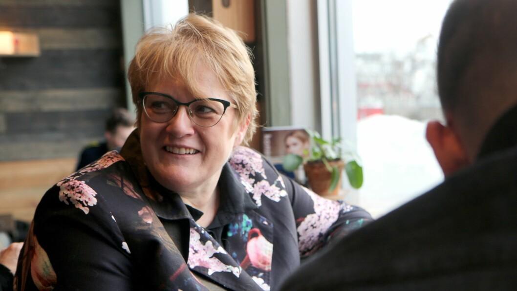 Kunnskaps- og integreringsminister Trine Skei Grande sier hun først og fremst er opptatt av sosial utvikling og språkutvikling hos barn i barnehagen.