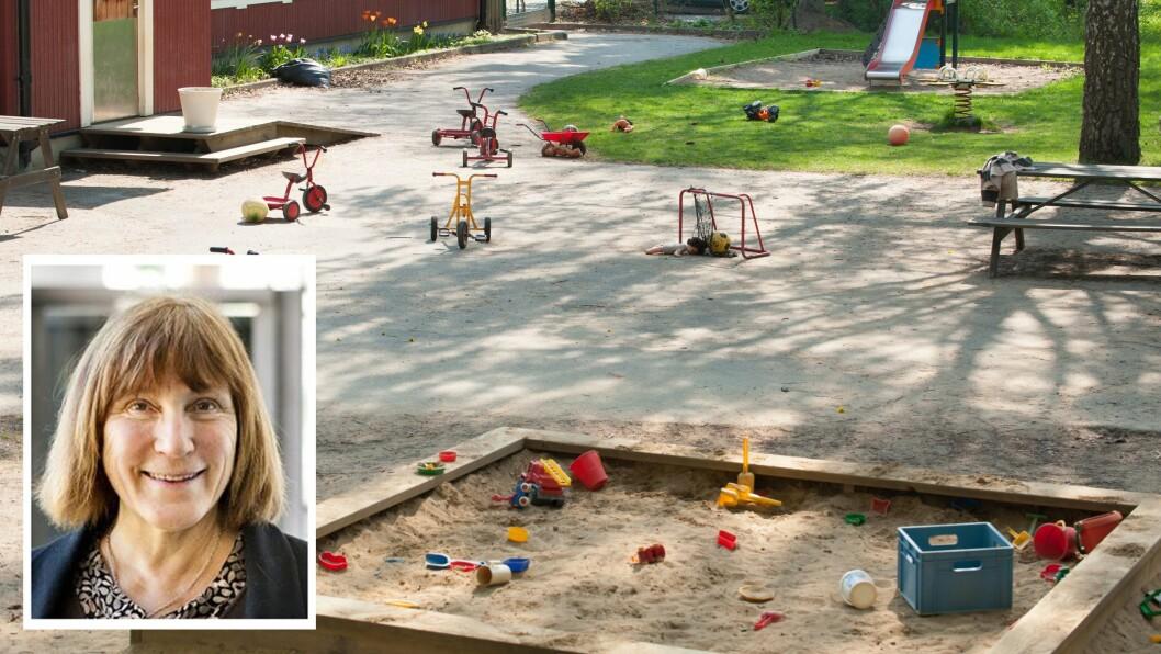 Professor emerita Kine Halvorsen Thorén er en av forskerne fra NMBU, som har studert hvordan uteområdene i norske barnehager og skoler kan bidra til å motvirke økende inaktivitet og skape god helse og trivsel.