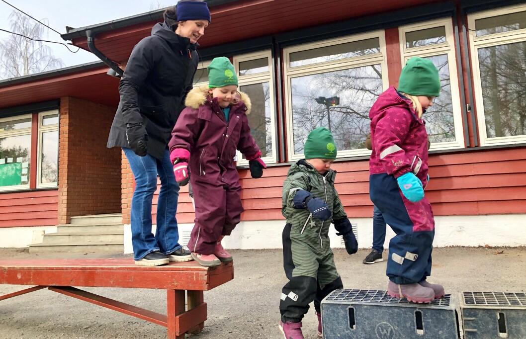 Aktivitetsopplegget «Jump» implementeres i alle Norlandia-barnehagene i Norge. I dag var Marit Bjørgen på plass i Norlandia Sørhellinga barnehage for å markere starten.