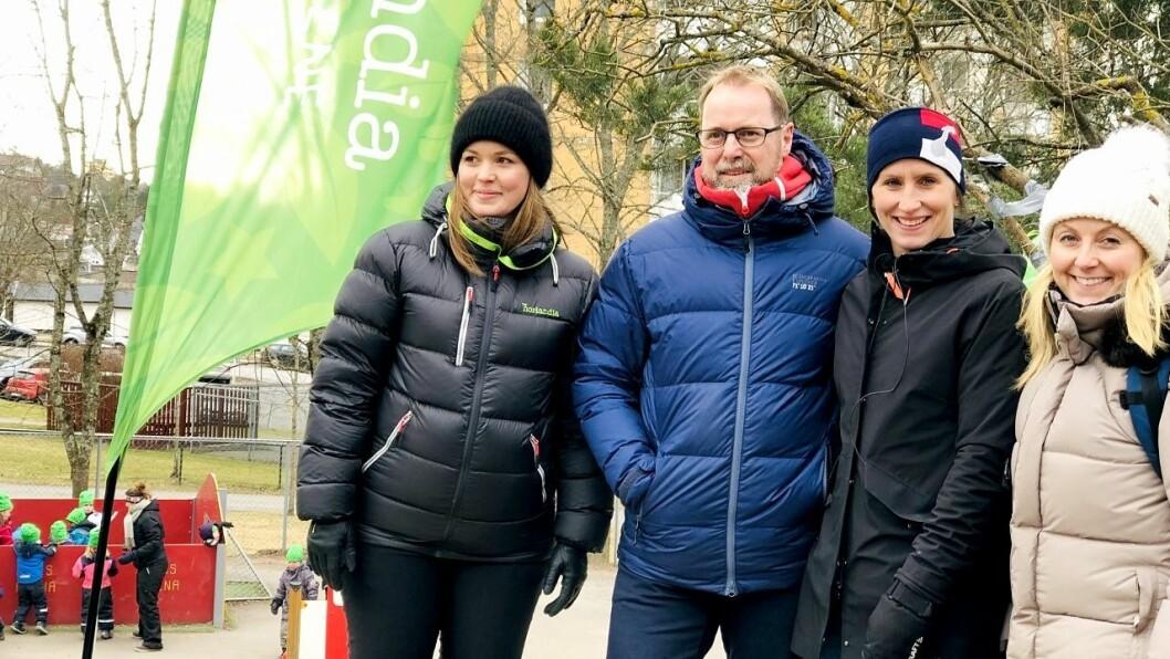 Fra venstre Ida C. Skar- Jørgensen, Kristian Heflo, Marit Bjørgen og Anna Solberg Myrvold.
