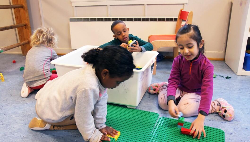 – Leken er helt grunnleggende for å skape tilhørighet., sier pedagogisk leder Anne-Linn Bang i Enerhaugen barnehage.