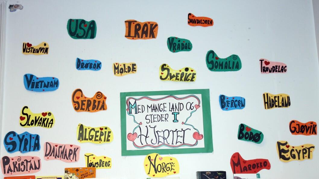 I fjor hadde barnehagen et prosjekt gjennom hele året som de kalte «Med mange land og steder i hjertet».