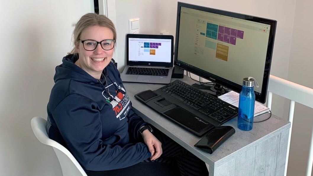 Marianne Amundsen Bergrud ledet i dag webinar for 1600 deltakere i PBL Mentor HMS - fra hjemmekontoret.