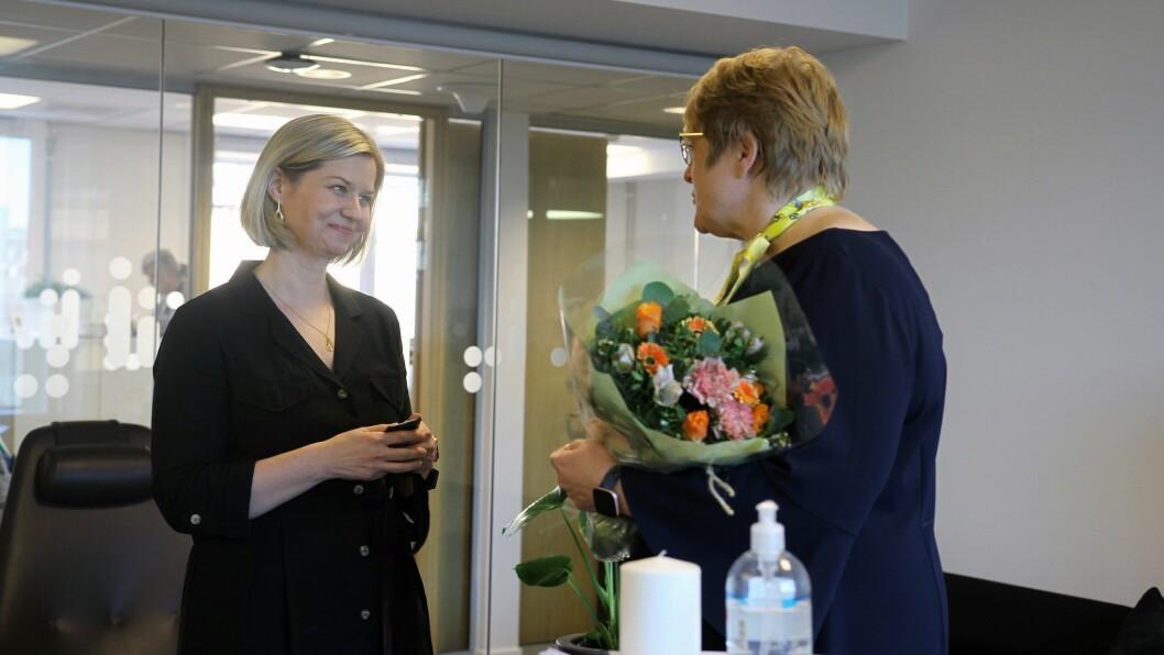Guri Melby tok over som kunnskapsminister etter Trine Skei Grande. Litt lei seg på vegne av partikollegaen.