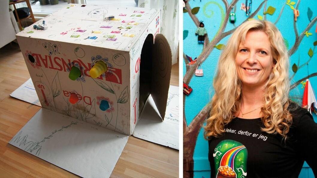 Trude Anette Brendeland kaller seg Fantasifantasten og holder blant annet kurs for barnehageansatte om hvordan skape gode lekemiljø og samlingsstunder. Her deler hun sine tips til aktiviteter for både de yngste og eldste barnehagebarna.