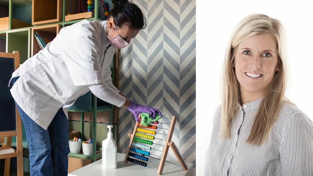 – Å jobbe med skjerpet smittevern krever nok folk på jobb for å ivareta alle de oppgavene barnehagen nå er pålagt og skal innfri utover de oppgavene som allerede ligger til samfunnsmandatet, skriver Kristina Konradsen.