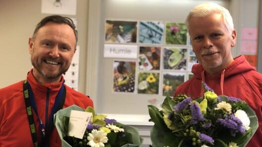 Ståle Skagen og Geir Valøen ble kåret til vinnere av Gullepleprisen 2020 for sitt arbeid med IKT i barnehagen.
