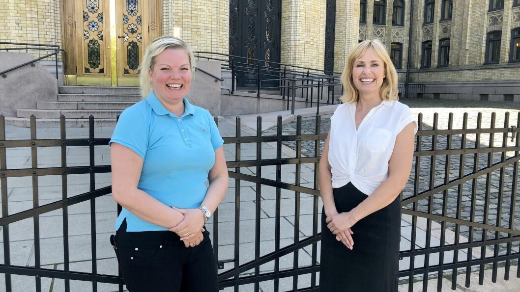 I dag kunne barnas stortingsrepresentant, Silje Hjemdal (Frp), overbringe den gode nyheten til PBL-direktør Anne Lindboe: Barnas verneombud tas inn på statsbudsjettet.