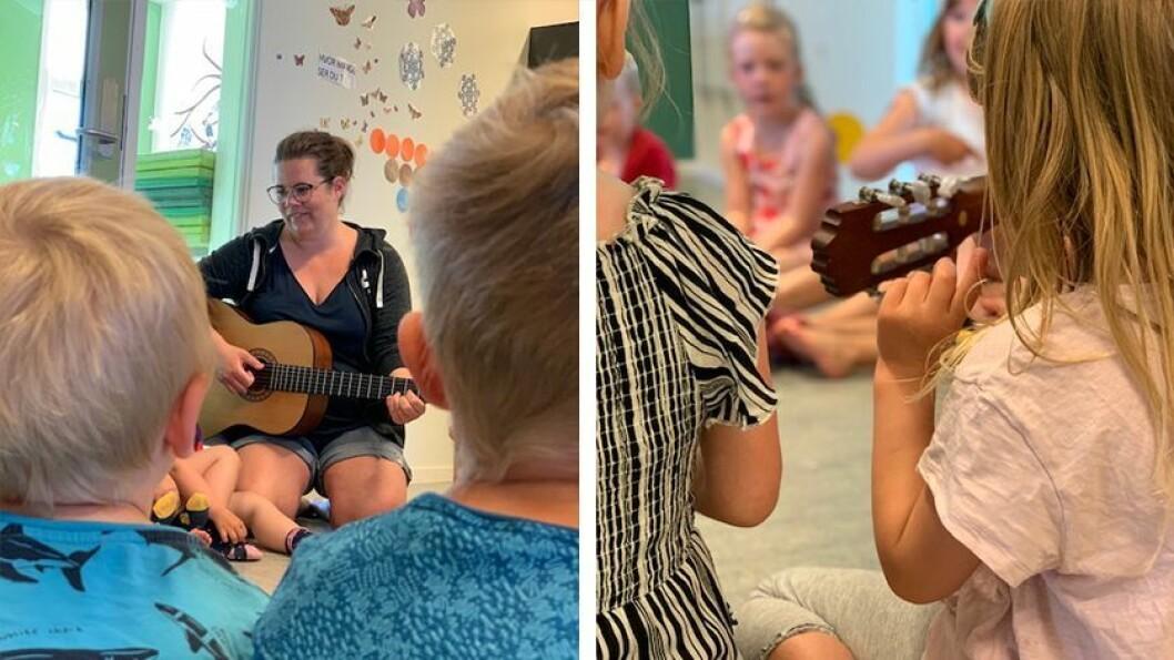 – Sang er et grunnleggende språk som alle mennesker besitter. Alle kan være med, sier pedagogisk leder og musikkpedagog Camilla Fauchald i Gnist Husbyåsen barnehage.