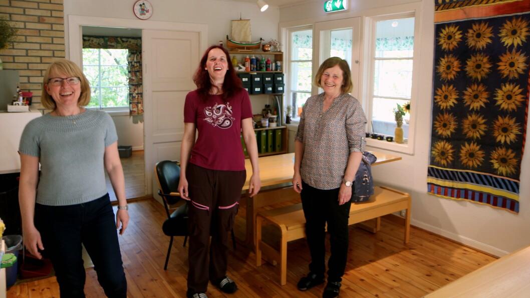 Bjerkhaug barnehage er blitt mer enn en arbeidsplass for Monica Røberg Andreassen, barne- og ungdomsarbeiderEllen Nordmann og Reidun Koch.