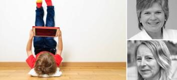 Digitale bildebøker: – Mens de voksne er opptatt av historien, vil barna trykke på skjermen for å få noe til å skje